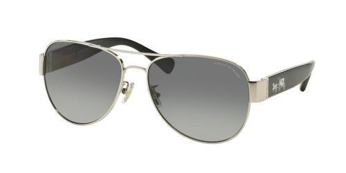 COACH Sunglasses HC 7059 9015T3 Silver/Black 58MM