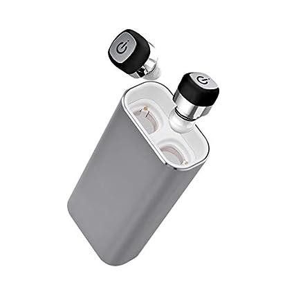 LanLan Mini Auriculares inalámbricos, Auriculares Bluetooth Estéreo IPX7, Auriculares Deportivos Impermeables con micrófono Negro