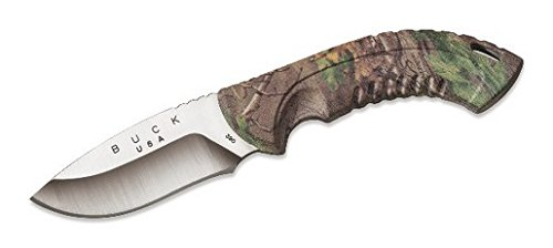 Drop Point Hunter Fixed Blade (Buck Knives 0390CMS20 OMNI HUNTER 10 PT Realtree Xtra Green Camo Fixed Blade Knife with Sheath)
