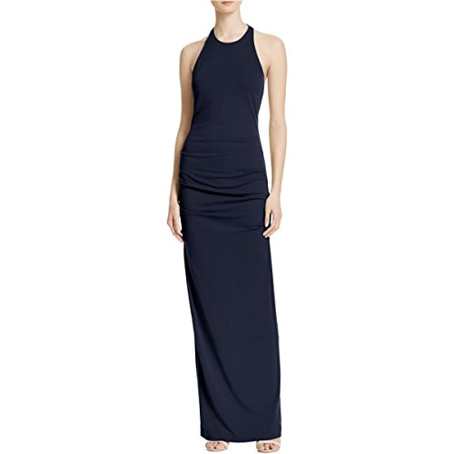 Nicole Miller Womens Ruched Prom Evening Dress Navy 12