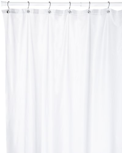 Carnation Home Fashions 72 Long by 108-Inch Wide Extra Wide Vinyl Shower Curtain, Frosted Clear