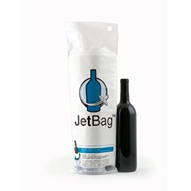 Jet Bag Reusable Padded Absorbent Bottle Bags, Bio-Degradable Travel Accessory, Set of 3