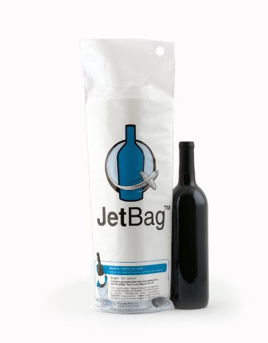 Jet Bag Reusable Padded Absorbent Bottle Bags, Bio-Degradable Travel Accessory, Set of 3 (Liquid Jet Protection)