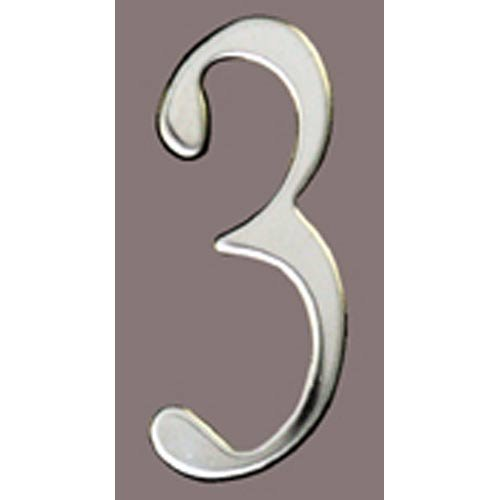 Special Lite Products SS3-Number 3 Stainless Steel Self Adhesive Address Number 3 3, 3''