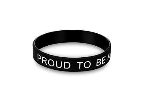 PROUD TO BE AMERICAN - Bracelet - Unisize / unisex and allergy free - Make America Great Again - Proud to be American Black Cosmos Limited Edition