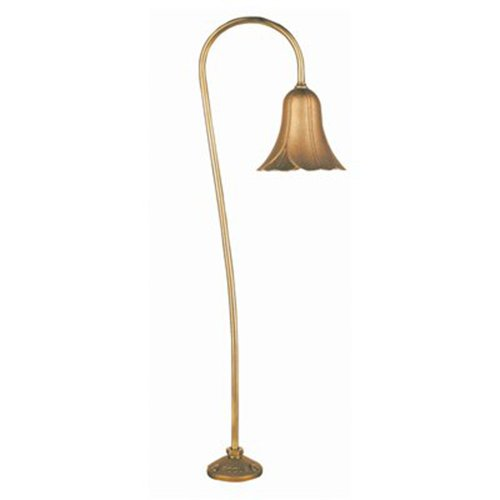 Focus PL-04-LVS-LEDP52BRS Outdoor Path Light with Metal Flower Shades, Brass Finish
