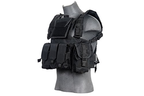Lancer Tactical CA-781GX Modular Chest Rig Tactical Gear - BLK