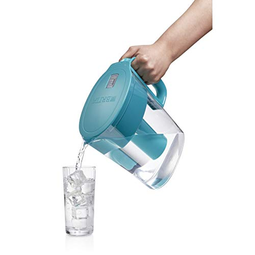 Brita Small 5 Cup Metro Water Pitcher with Filter - BPA Free - Turquoise by Brita (Image #4)