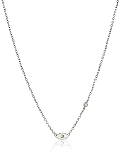 Syd by SE Evil Eye Necklace with Bezel Set and Burnished -