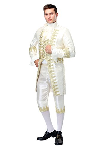 Men's Louis XVI Costume X-Large White