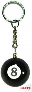 Harts - Llavero, diseño de bola de billar n.º 8: Amazon.es: Hogar