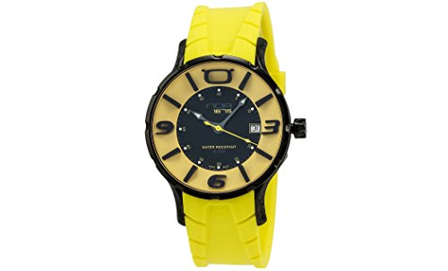 NOA-Black-PVD-coated-Case-Black-Yellow-Dial-Yellow-Rubber-Strap-Quartz-Watch