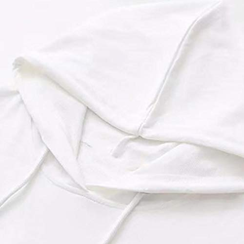 Longues Longues Femmes Femme Blanc Manches pour Sweat Manches Trydoit Shirt Chemise qaxtXwS