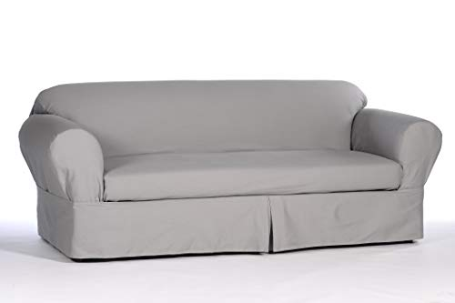 Classic Slipcovers WDEN2PC10GRY Sofa slipcover, 2 Piece, Sep
