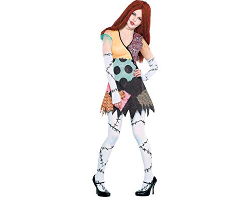 Party City The Nightmare Before Christmas Rag Doll Sally Halloween Costume for Women, Standard, with Accessories