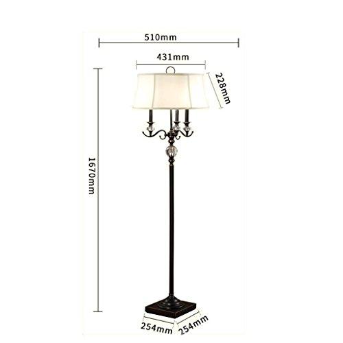 MOM Long Pole Floor Lamp,Led Creative European Style Crystal Floor Lamp Living Room Retro Candle Type American Style Wedding Crystal Floor Lamp Lamps Eye Protection Vertical Table Lamp,Children's Lig