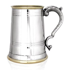 brass and pewter engraved beer tankard engraved tankards gifts for