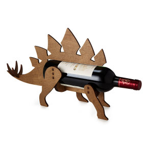 WINE-O-SAUR WINE BOTTLE HOLDER | Wooden Wine Rack, Dinosaur | UncommonGoods