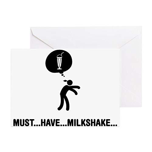 CafePress Milkshake C Greeting Card, Note Card, Birthday