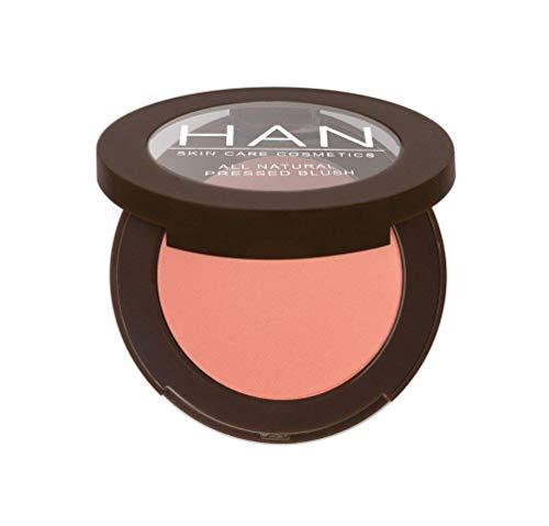 HAN Skincare Cosmetics All Natural Pressed Blush, Bloom