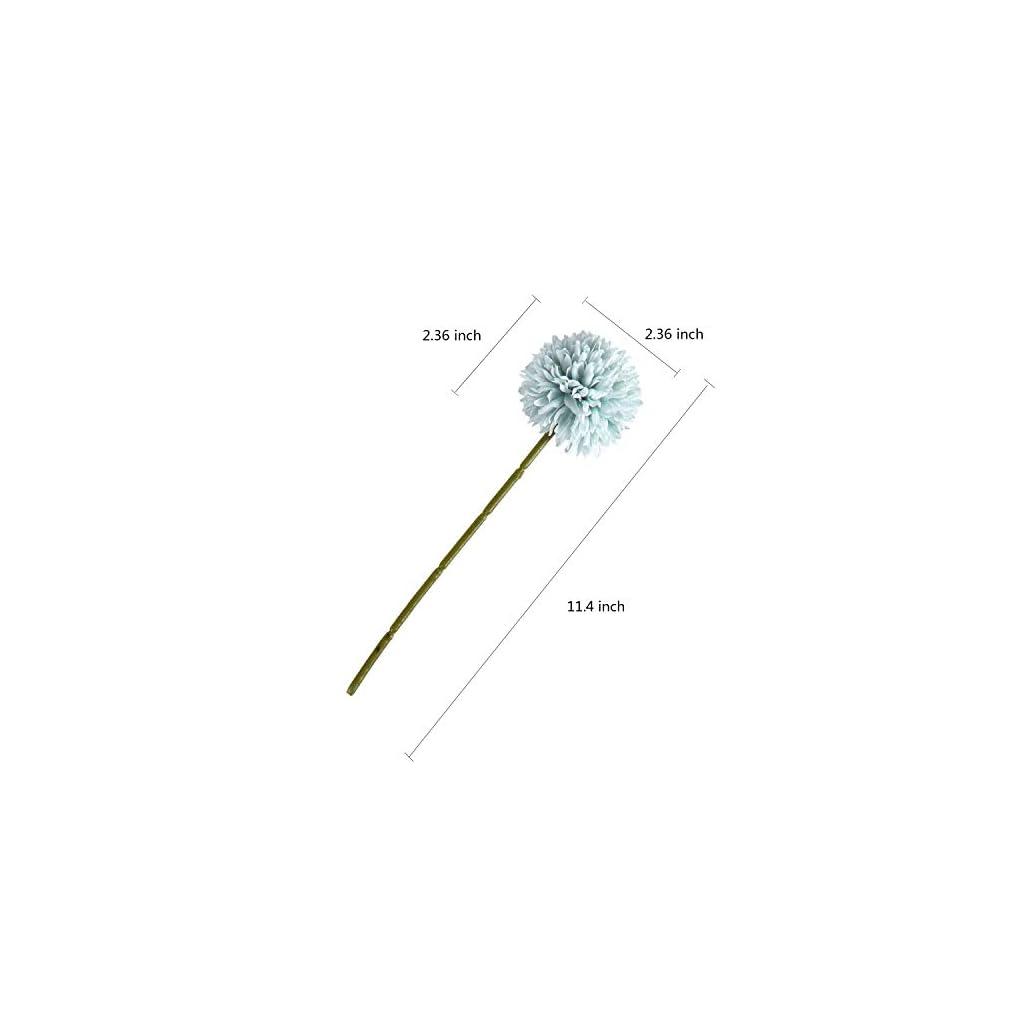 Sumn Boutique Artificial Hydrangea Flowers, 10 PCS Silk Hydrangea Flowers Heads with Stems, Chrysanthemum Ball Flowers Bouquets Bulk for Wedding Bouquets Centerpieces Arrangements Party Home Decor