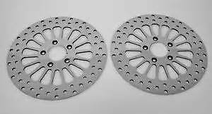 SUPER SPOKE ROTOR FRONT AND REAR 11.5 00-14 ALL BIG TIWN SOFTAILS W/ BOLTS
