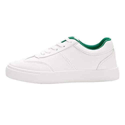 Sexy Swertuy Pequeños Primavera Flat Versión Blancos Coreana Estudiantiles Ins Casual Nueva The Verano Zapatos 38 De Mujer Verde Transpirables Wild dqqxrnBw