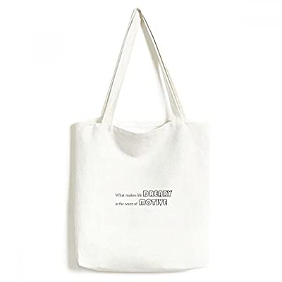 DIYthinker Slogan What Makes Life dreary Is The Want Of motive Environmentally Washable Shopping Tote Canvas Bag Craft Gift good