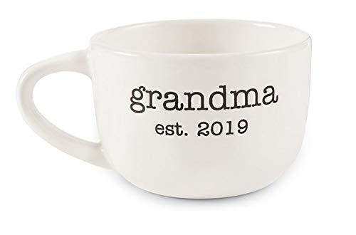 Mud Pie ceramic mug features debossed
