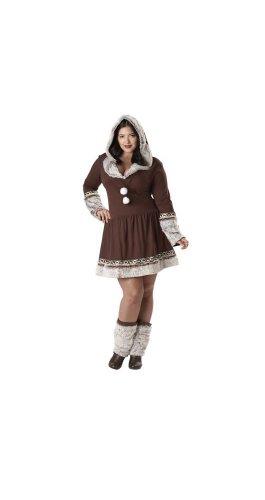 Eskimo Woman Halloween Costume (California Costumes Women's Eskimo Kisses Costume, Brown/White, 3X-Large)