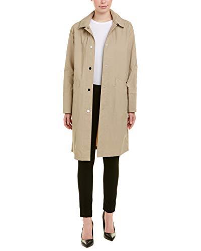 JANE POST Womens Hooded Mack Coat, L, Beige ()