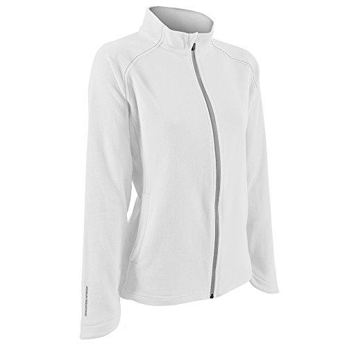 Sun Mountain Golfleece Golf Jacket 2016 Ladies White/Gray Medium ()