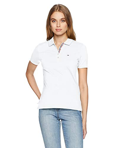100 Original Tommy Basic Bianco Jeans classic Donna Polo White 55r8wq