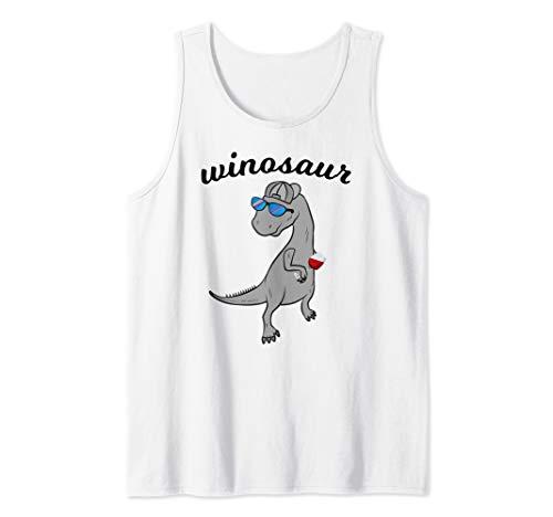 Birthday Humor Womens Cap - Wine Lover Drinking Winosaur Tank Top