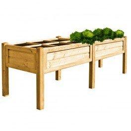Potager carré en bois autoclave - 100x290cm: Amazon.fr: Jardin