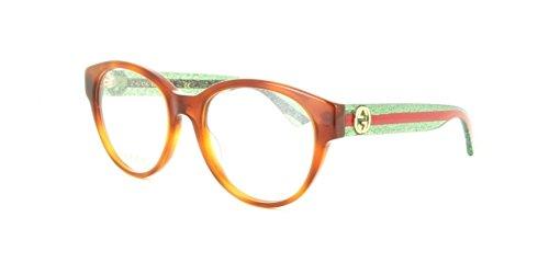 Gucci - GG0039O Optical Frame ACETATE (Havana/Green, ()