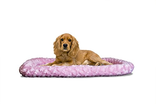 Furhaven NAP Pet Bed Ultra Plush Bolster for Kennels and Cra