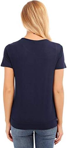 Libertroy Tops de maternit/é pour Femmes de Grande Taille T-Shirts dallaitement Chemises /à Manches Courtes dallaitement en Vrac D/ébardeurs dallaitement V/êtements d/ét/é Bleu Marine S