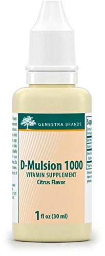 Genestra Brands - D-Mulsion 1000 - Emulsified Vitamin D - Citrus Flavor - 1 fl oz (30 - D Brands With