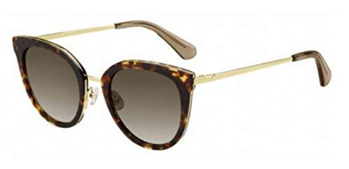 Kate Spade Women's Jazzlyn/s Round Sunglasses HAVANA GOLD 51 mm