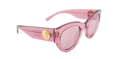 Versace VE4353 Sunglasses 523484-51 - Transparent Pink Frame, Light Violet VE4353-523484-51