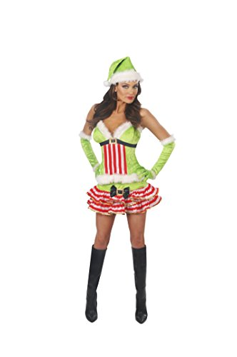 Magik Costumes Women's Sexy Santa Helper Costume L (12-14) (Santas Green Helper Sexy Costumes)