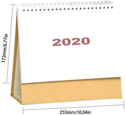 Tischkalender 2020 Großformatiger Kalender von Juli 2019 bis Dezember 2020 Stehender Tisch Fruchtkalender Schreibtisch Täglich Wöchentlich Monatlich Jährlich Akademischer Kalenderplaner für Schulbüro