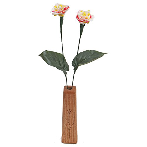 6th Wedding Anniversary gift 2-stem candy roses with vase
