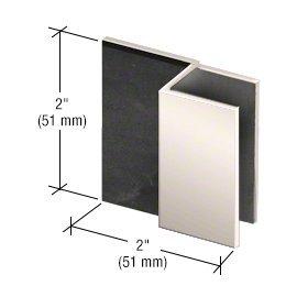 C.R. LAURENCE DSSQ1PN CRL Polished Nickel Square Style Frameless Shower Door Stop (Hardware Polished Shower)