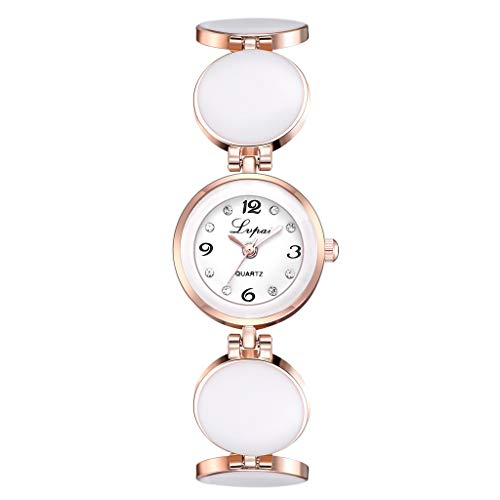 YEZIJIN Simple Casual Fashion Round Splicing Strap Delicate Female Bracelet Watch 2019...
