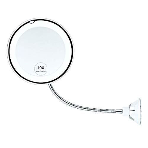 Womdee Makeup Mirror, 10X Magnifying Vanity Mirror With Lights, 360 Degree Rotation -