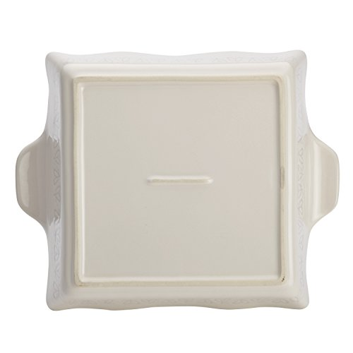 Ayesha Curry Home Collection Stoneware Square Baker, 8-Inch x 8-Inch, Cream by Ayesha Curry (Image #3)