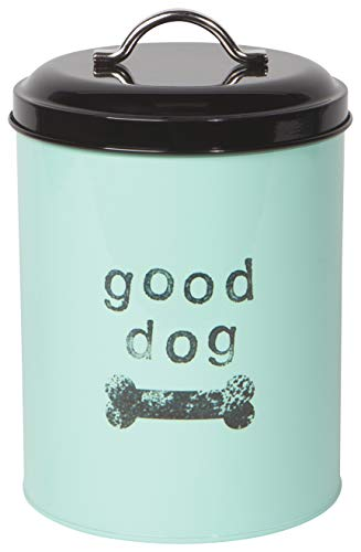 Now Designs 5062003aa Dog Biscuits Tin with Lid, Good Dog Design