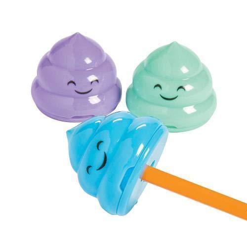 Fun Express Emoji Poop Pencil Sharpeners 2